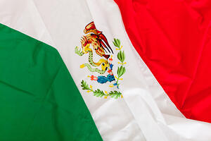 Close up shot of the Mexican flag