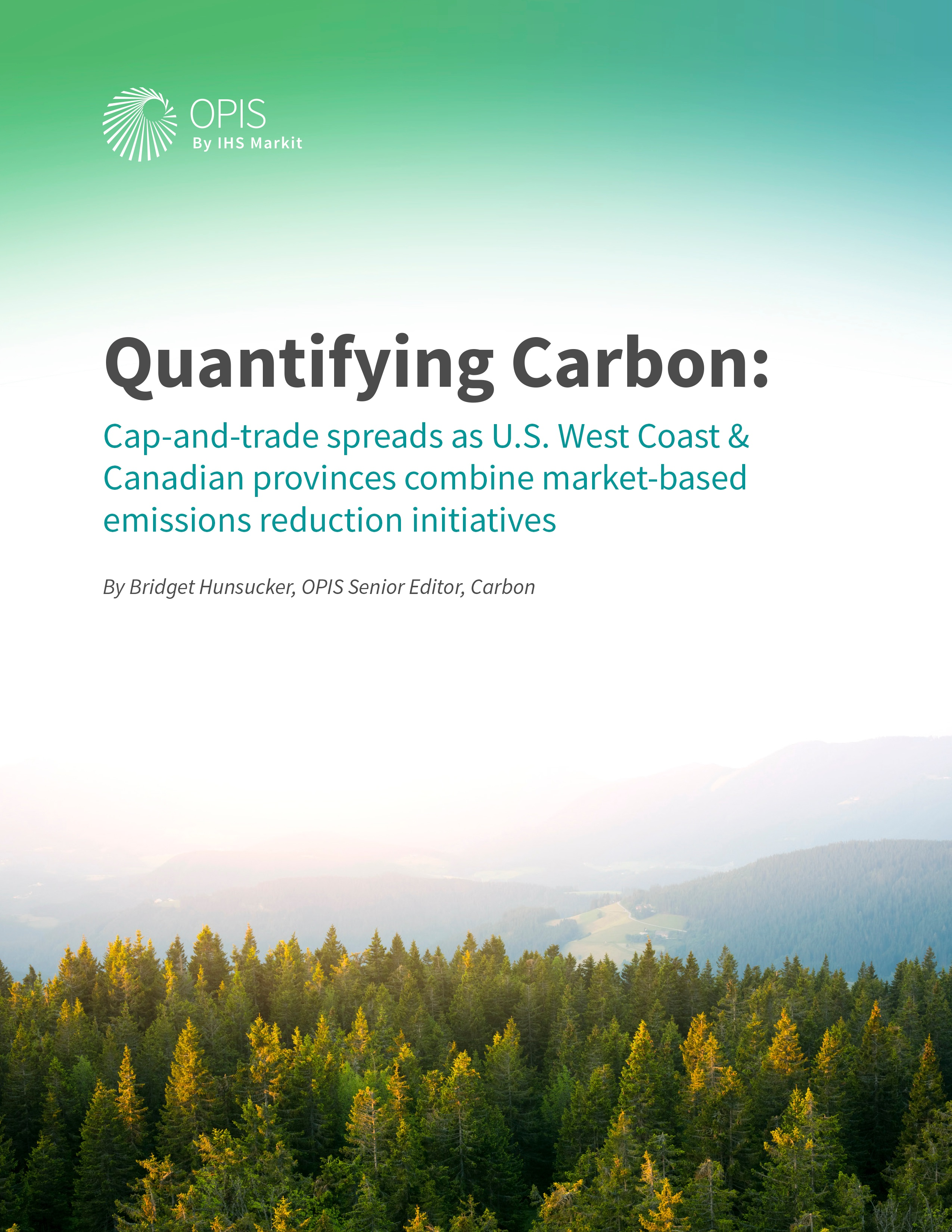 Quantifying Carbon: Cap-and-trade spreads as U.S. West Coast & Canadian provinces combine market-based emissions reduction initiatives